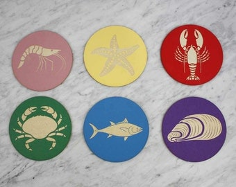 Sea Creature Coasters