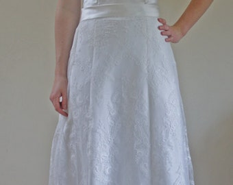 Isla-Floral lace over skirt, bridal skirt