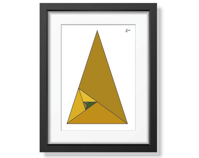 Fibonacci triangles 07 [mathematical abstract art print, unframed] A4/A3 sizes