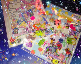 100+ Pcs Kawaii Stationery & Sticker Grab Bag Lg/Sm Memo Sheets Die Cuts Letter Sets Sticker Flakes Puffy Stickers Cabochons + FREE GIFT WOW