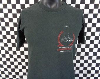 90s San Francisco T-shirt / The Watering Hole Tshirt / Medium Shirt / Vintage Tshirt / Cowboy Boot / Distressed / Made in USA / Vtg 90s