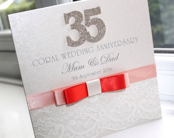 35th wedding anniversary Etsy