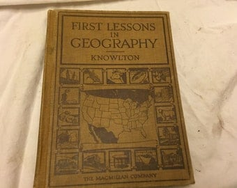 First lessons in geography Knowlton 1929