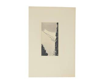 """Edouard Monod-Herzen 1914 French Japonisme Engraving """"Breche Dans La Crete Des Felouses"""""""
