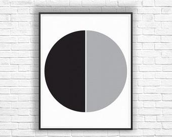 Black Gray Wall Decor, Minimal Modern Wall Art, Minimalist Geometric Wall Art, Black Gray Wall Prints, Gray Modern Wall Print, Art Prints