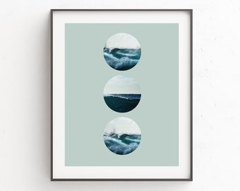 Wave Print, Wave Art, Surf Photography, Ocean Print, Sea Print, Sea Art, Sea Wall Art, Blue Wall Art, Surf Print, Ocean Photo, Oju Design