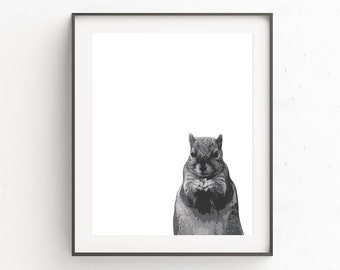 Woodland Nursery Art | Forest Nursery | Squirrel