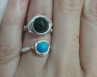 wire work gem rings