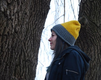 slouchy, knit fall/winter hat