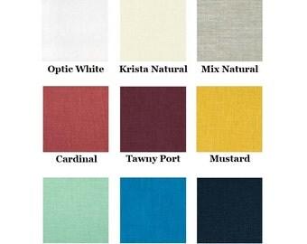 Choose Your Color - 100% Linen A-Line Skirt on the Bias Knee Length - Abigail Skirt