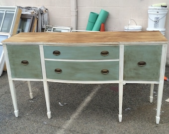 SOLD! AUCTION - Buffet,Distressed Furniture,Painted Furniture,Vintage Furniture,Upcycle Furniture,Repurposed Furniture,Furniture