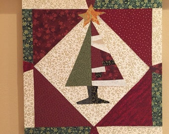 Quilt Art: Sideways Santa