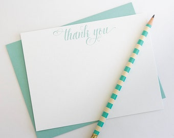 Thank You Notes // Thank You Cards // Thank You Card Set // Thank You Gift // Calligraphy Stationery // Custom Note Cards