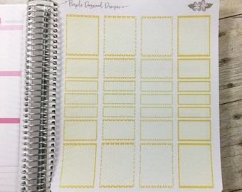 Yellow Vertical Life Planner Boxes