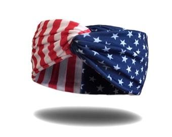 USA Turban Headwrap Headband