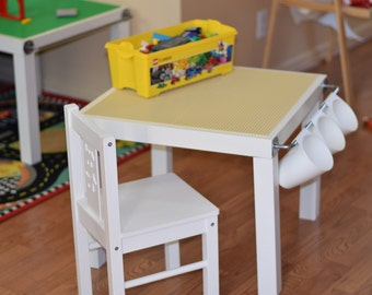 Superb Kids LEGO® Table With Storage, Hanging Storage Buckets, Lego Brick Top And  Mess