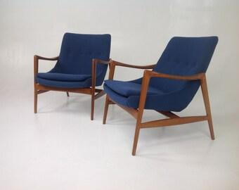 Modern mid century KOFOD LARSEN style lounge chairs