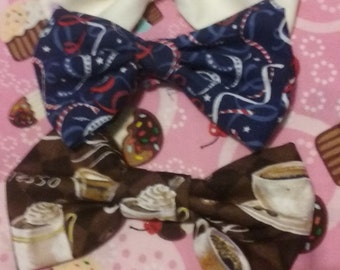 1pc Soft Fabric Hair Bow Clip
