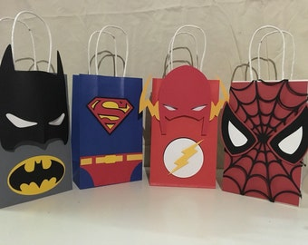 ANY Super hero party favor bags (one dozen)