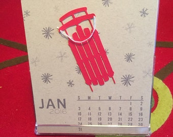 May 2016-May 2017 CD Case Desk Calendar **Great Teacher Gift**