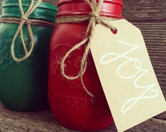 Red & Green Mason Jars