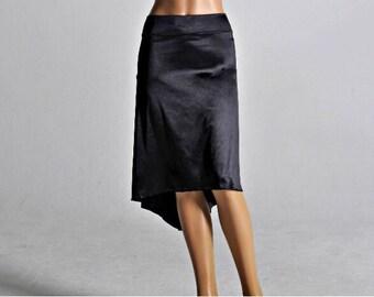 Shiny Black Tango skirt