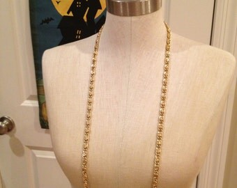 Vintage Gold, extra long, 54 inch layering chain.