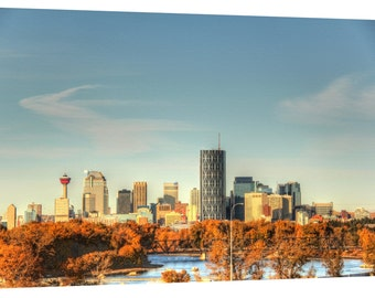 Calgary Skyline Canvas Wall Art