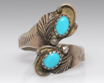 Sterling Silver Turquoise Ring - Size 8