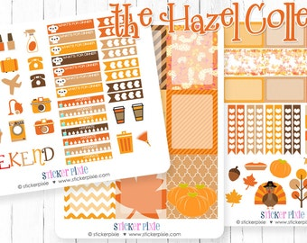 Thanksgiving planner stickers for use with Erin Condren Planner Turkey Stickers Weekly Sticker Set and Mini Happy Planner