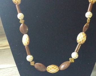 Brown And Tan Neutral Necklace