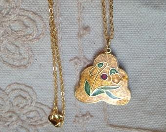 Cloisonne pendant, cloisonne pendants, vintage cloisonné jewelry, cloisonné pendants, vintage cloisonné jewelry, cloisonne pendant,  N101