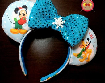 Mickey and Friends Christmas Mickey Ear Headband
