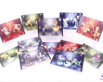 Zodiac Characters Print