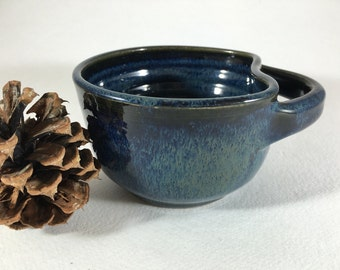 Wheel-Thrown Pottery Wet-Shave Bowl, Shaving Mug