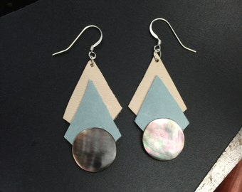 Geometric Leather and Shell