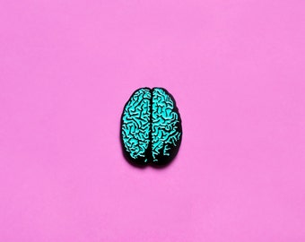 Enamel Pin / Lapel Pin / Brain Pin - Nawlz Brain