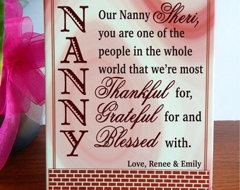Gift for our Sweet Nanny,Custom Nanny Gift,Birthday Gift For Nanny,NannyMothers day Gift,Nanny Birthday Gift,Babysitter Gift,Greatest Nanny.