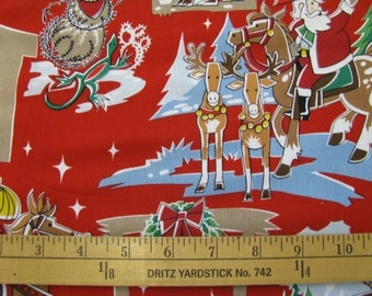 """Alexander Henry Fabrics Collection """"Howdy Holiday"""" Red BTY"""