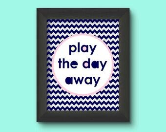 Play Room Decor, Nursery Decor, Play The Day Away, Play Sign, Play Room Decor, Play Room Wall Decor, Play Room Art,