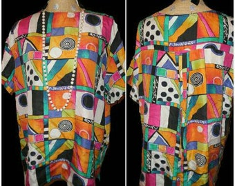 "Fabulous ""The Limited"" 90's Abstract silk top"