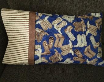 Kickin Cowboy Boots Travel Pillowcase