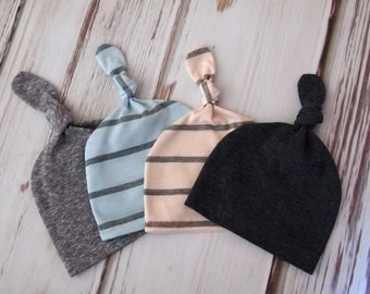 Best Sellers! 2 for 1 Knot Hats in Gray, Black, Red, White, Stripes or Solids!