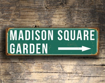 MADISON SQUARE GARDEN Sign, Vintage style Madison Square Garden Sign, Home of the New York Knicks and Rangers, Madison Square Garden