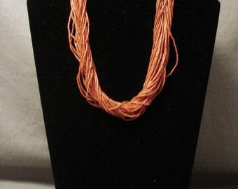 The Finest Vintage Navajo Solid 14k Gold Coral Necklace