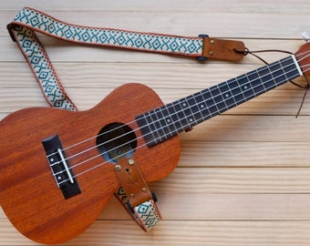 Cream Retro Ukulele Strap 3 in 1