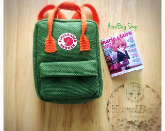 backpack  for doll /Pullip ,Blythe,Momoko,Ruruko,Mui chan,Lati yellow Tiny Dolls.
