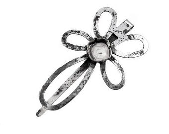 12x12 mm Square cup flower hair pin