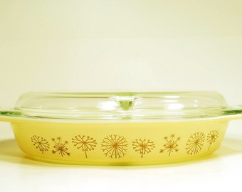 Pyrex Dandelion Divided Casserole Dish