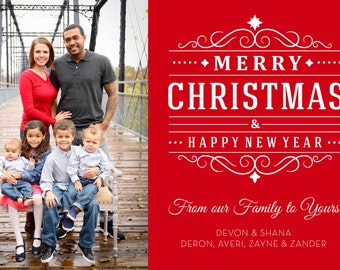 Family Merry Christmas Card